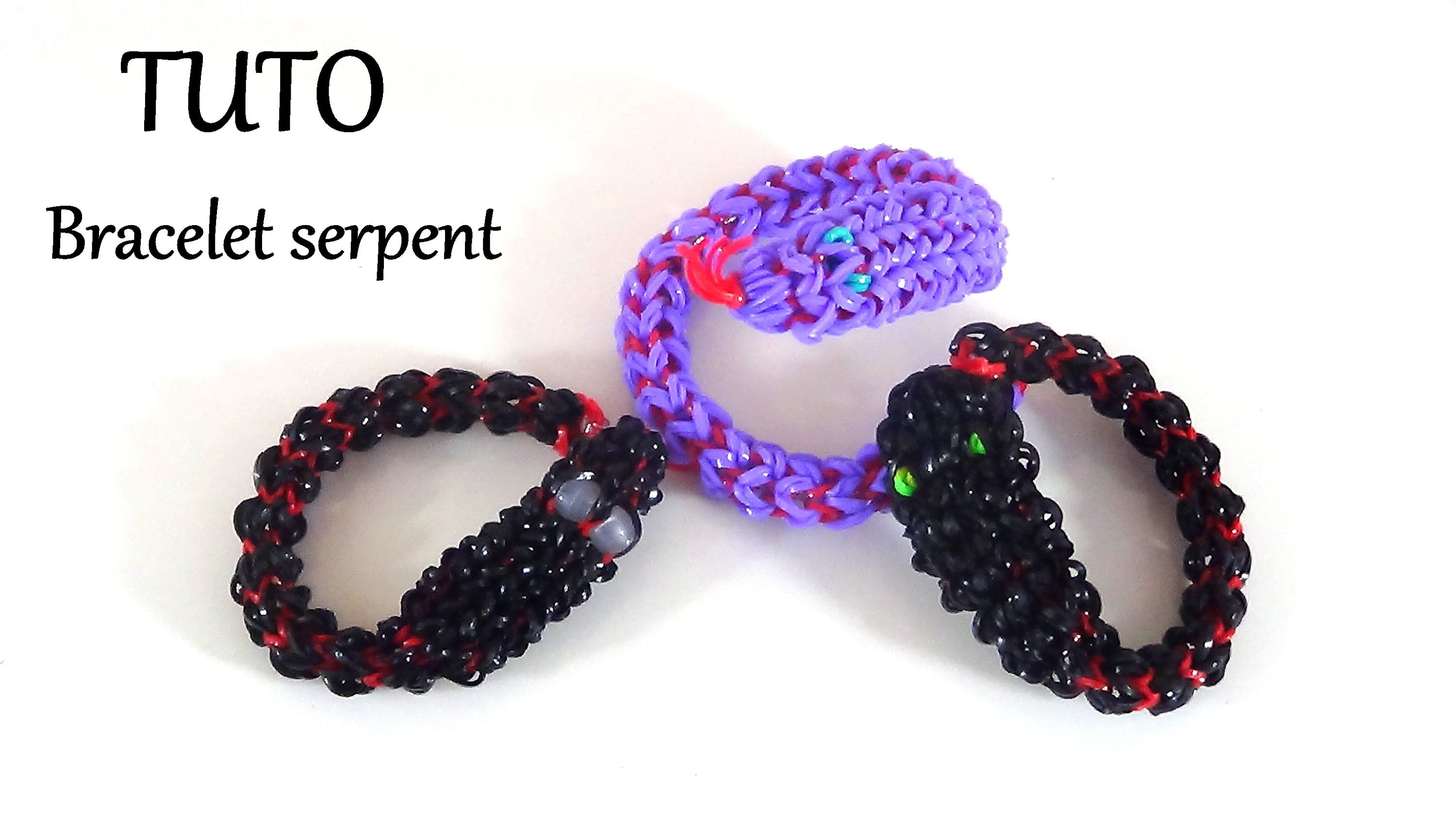 tuto bracelet serpent en lastique rainbow loom creations pinterest bracelet serpent. Black Bedroom Furniture Sets. Home Design Ideas