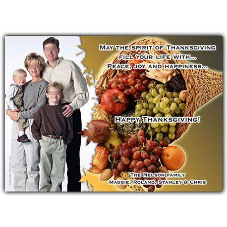 Thanksgiving Invitation Card Tarjeta Invitación Para El Día De