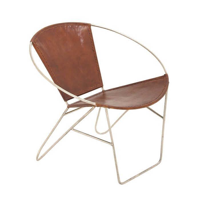 Beautiful Youu0027ll Love The Metal And Leather Papasan Chair At Wayfair   Great Deals On