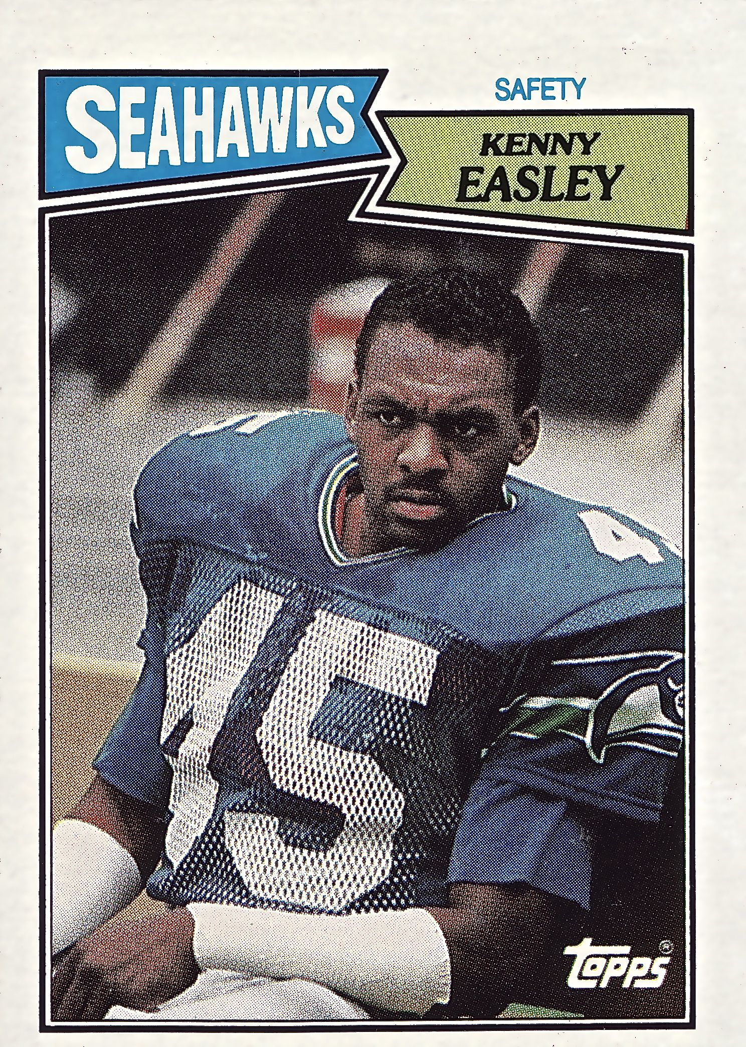 seahawk cards_ Kenny Easley Seahawks game, Seahawks