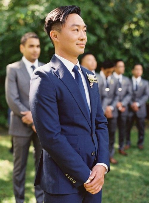 The Hottest 2014 Wedding Trend: 30 Navy Suits For Grooms | My Ideal ...