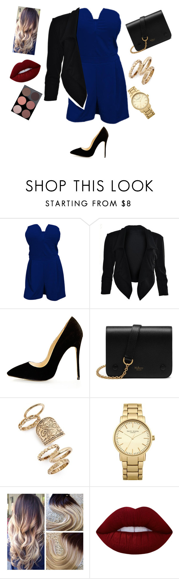 """""""Fancy night"""" by layel11 ❤ liked on Polyvore featuring Mulberry, Topshop, Lime Crime and MAC Cosmetics"""