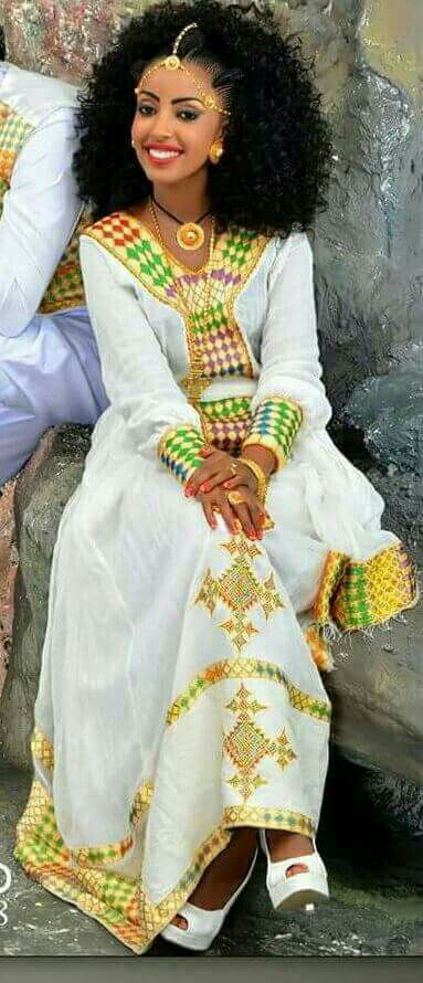 Pin by ami yimer on ethiopian traditional clothes for Traditional ethiopian wedding dresses