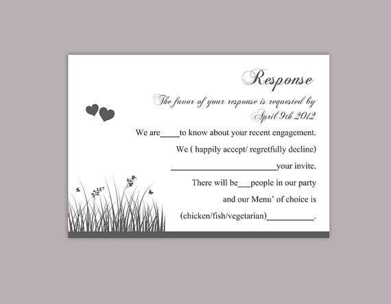 Diy Wedding Rsvp Template Editable Word File Instant Download Etsy Wedding Rsvp Rsvp Wedding Cards Card Template