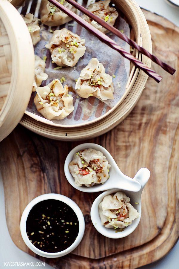 Chinese dumplings dim sum steamed open dumplings with minced chinese dumplings dim sum steamed open dumplings with minced meat and shrimp forumfinder Gallery