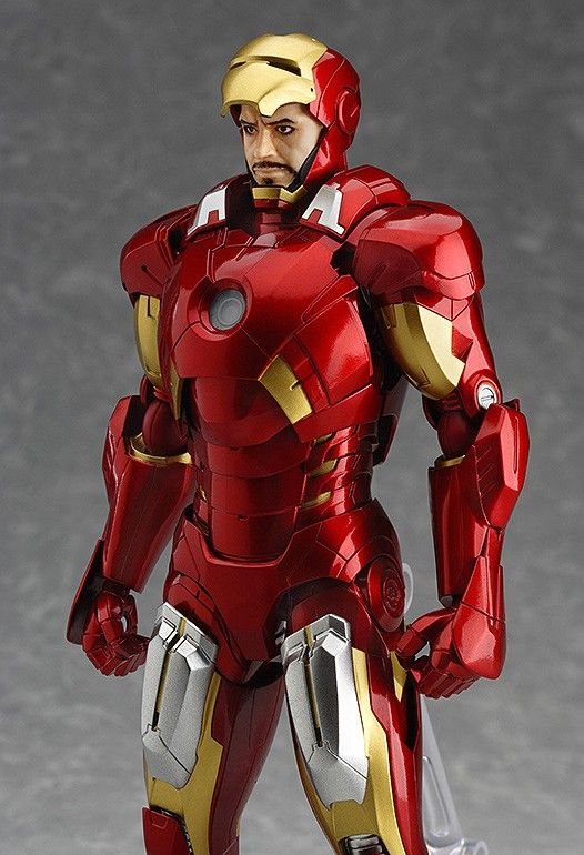 Iron Man Figma Full Spec Version Tony Stark Head Robert Downey Jr.