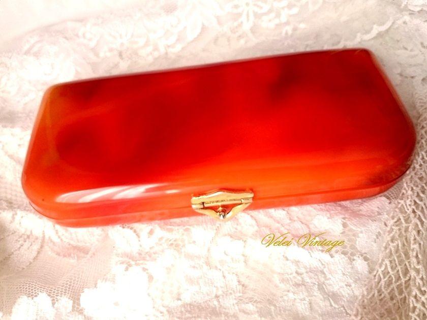 75965da1556 Antiguo bolso tocador de baquelita carey