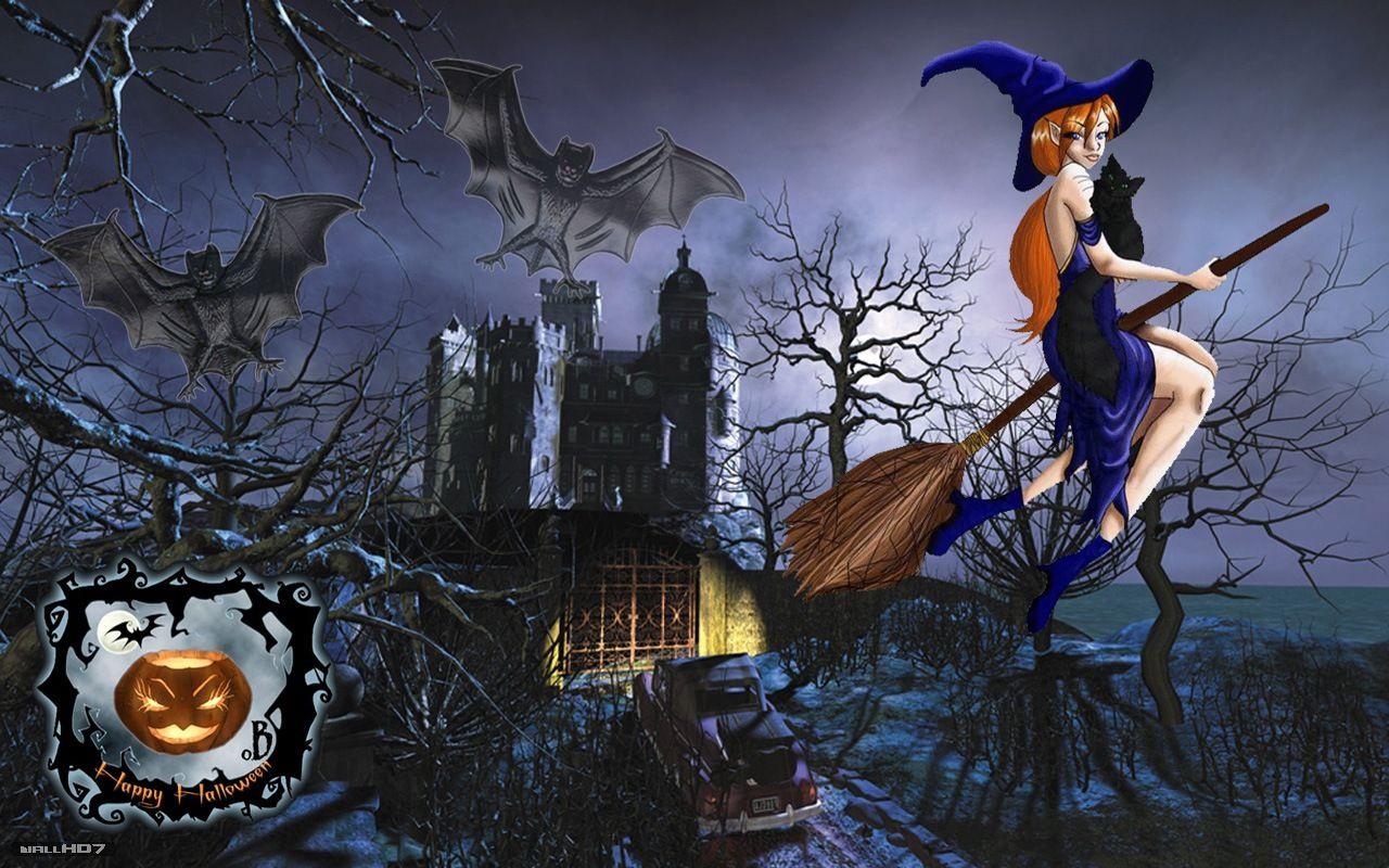 3d Halloween Witch Pictures Halloween Wallpaper Halloween Art