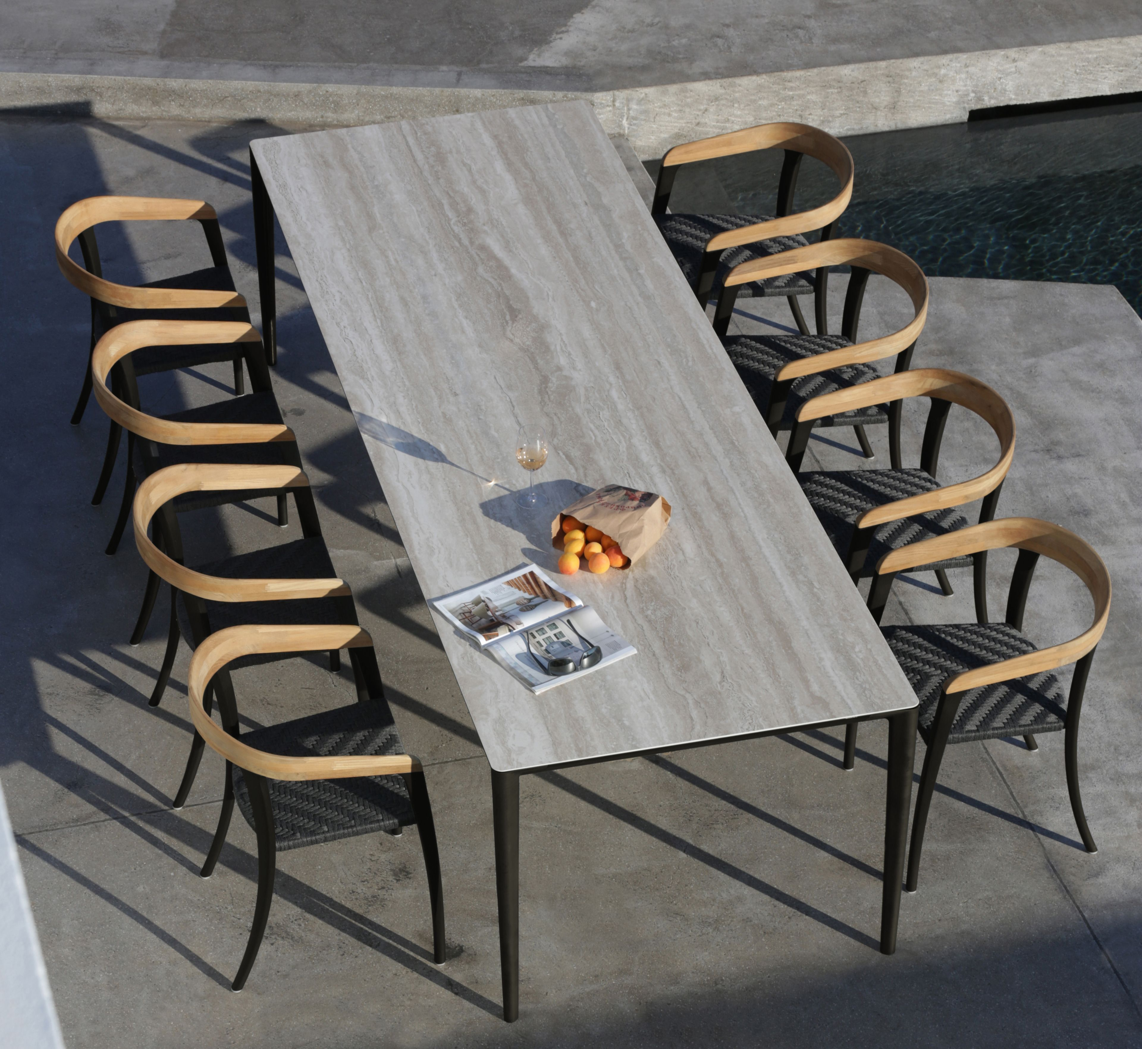 u nite garden table jive armchair from royal botania outdoor tables outdoor dining