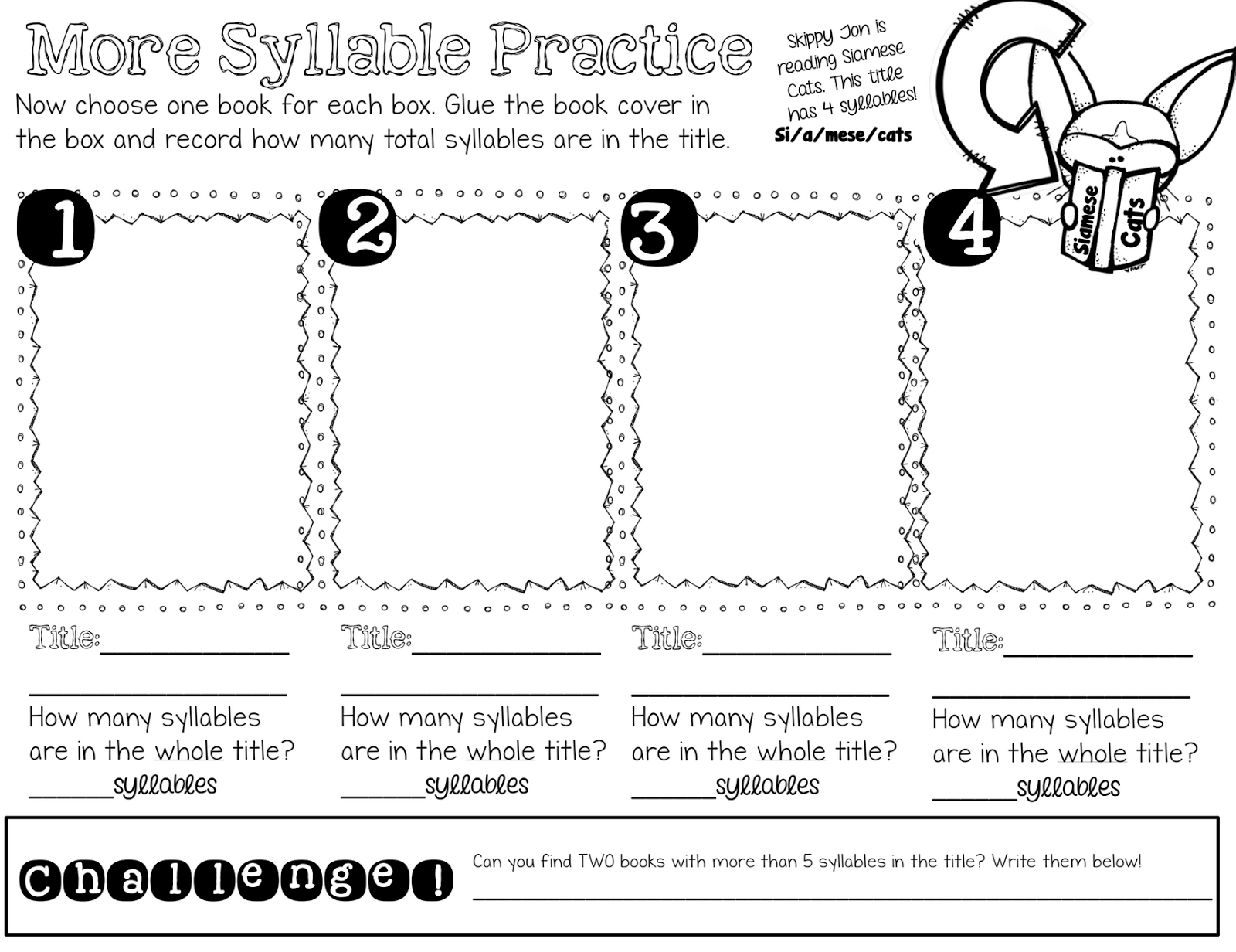 Open And Closed Syllable Freebies