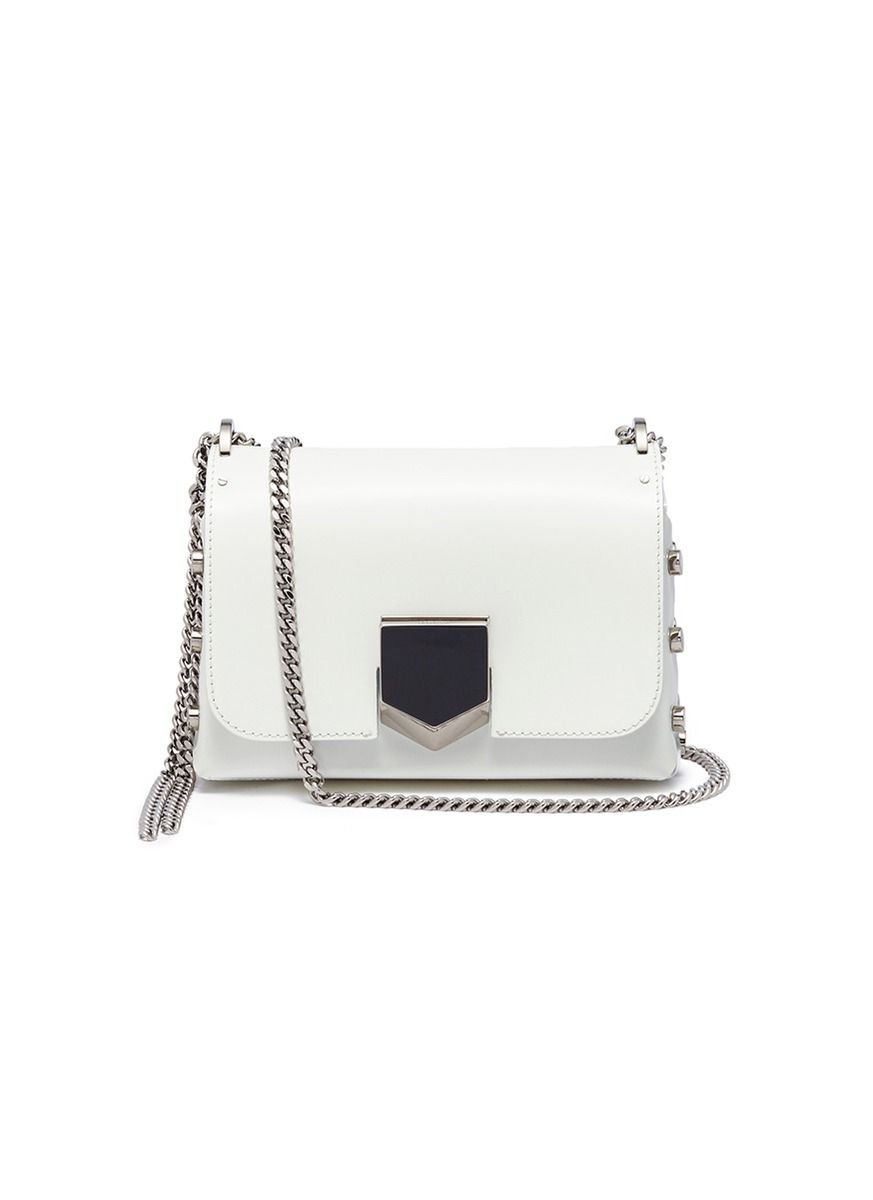 Jimmy Choo 'Lockett Petite' stud leather crossbody bag