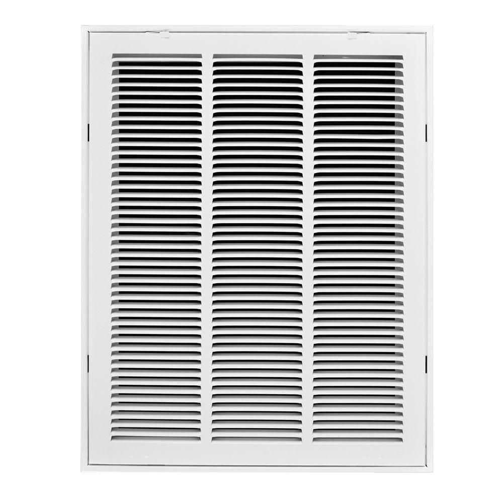 Truaire 14 In X 24 In White Steel Return Air Filter Grille H190 14x24 Air Filter Ventilation System Return Air Grill