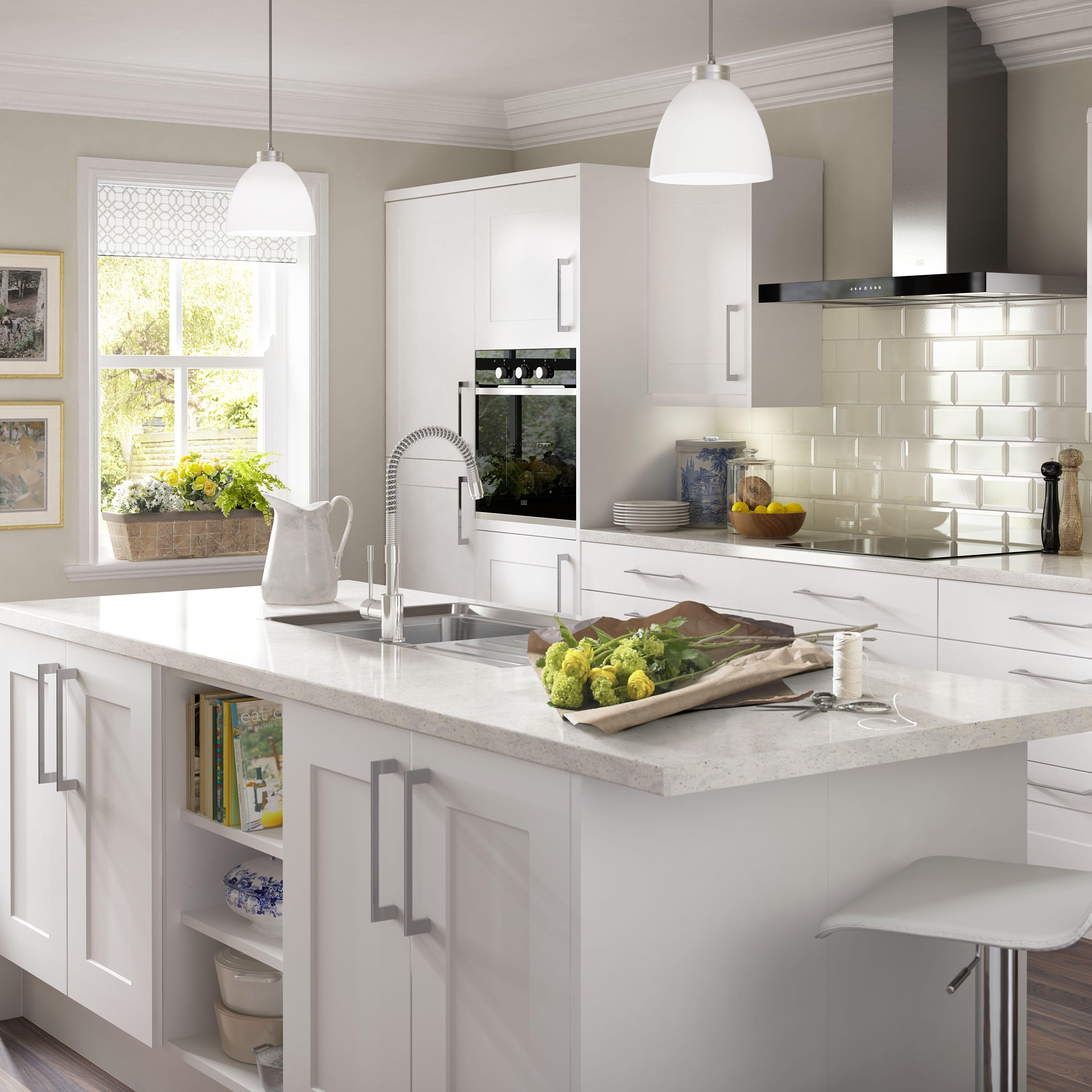 It Kitchens White Classic Style Gloss White Cornice (L