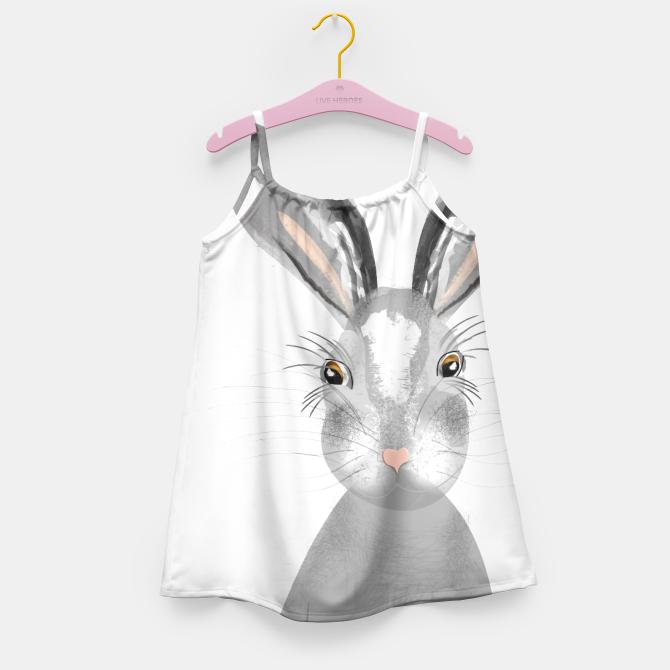 Sweet Whimsy Grey Hare Girl's Dress
