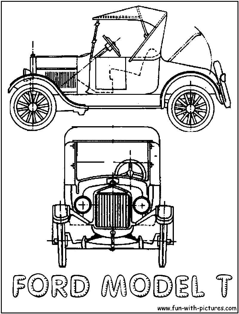 Ford Model T Coloring Page Henry Ford Model T Ford Models Model T