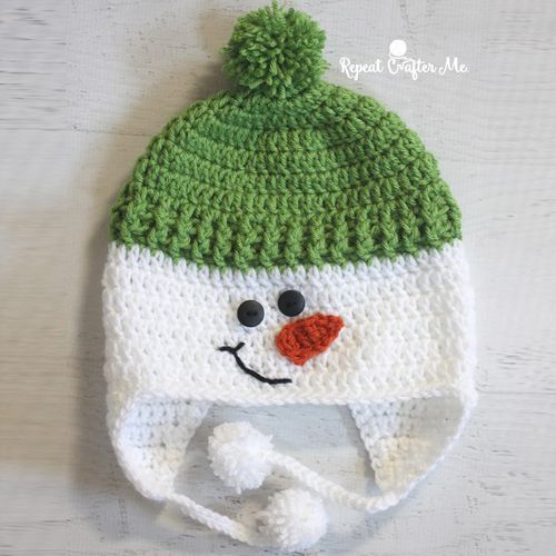 9bc1b4f9d Crochet Snowman Hat - Free Pattern (Crochet For Children) | Crochet ...