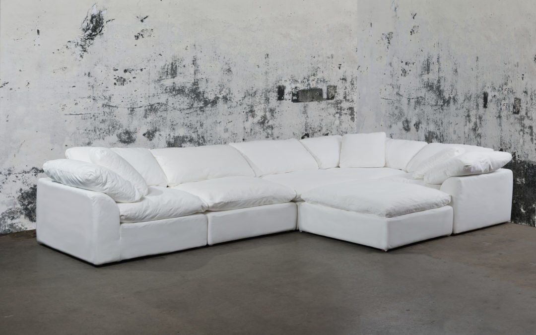 Frankfurt Leather Storage Ottoman Storage Sectional Sofa Ottoman