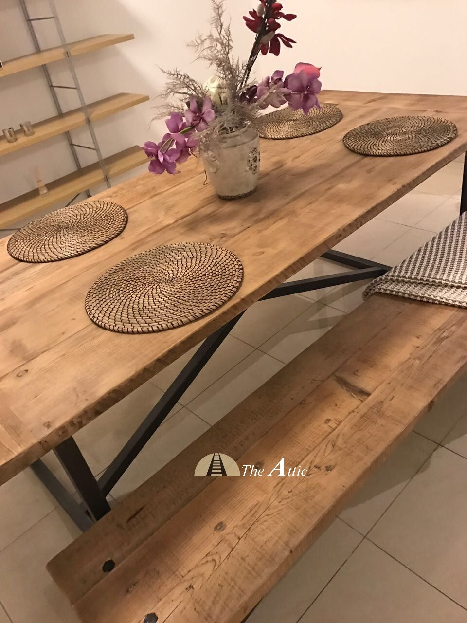 Our Recycled Pine Dining Tables Are Made Using Local Talent And