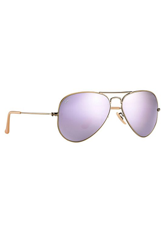c784b831a5 Lilac Brushed Bronze Mirrored Ray-Ban Aviator Sunglasses