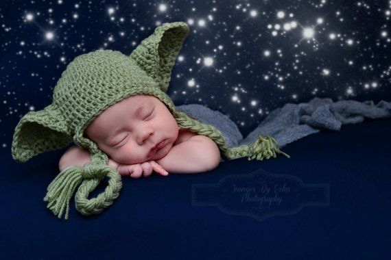 Lovely Baby Boy Girl Kids Star Wars Green Cap Beanie Hat Earflap Photograph Prop