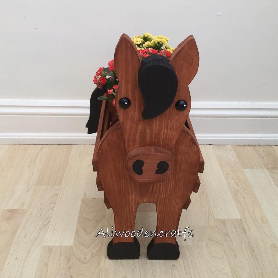 Wooden Pet Planterhorse Gift Wooden Ornamnet Etsy In 2021 Wood Craft Patterns Wooden Garden Ornaments Wooden Ornaments