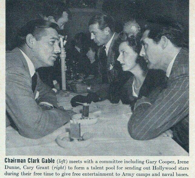 Clark Gable, Gary Cooper, Irene Dunne, and Cary Grant