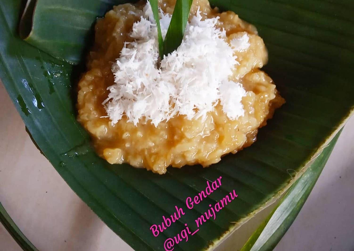 Resep Bubuh Gendar Bubur Ketan Gula Merah Oleh Ugi Resep Makanan Dan Minuman Gula Resep