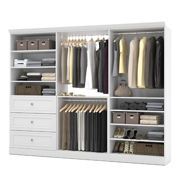 Rebrilliant Saltsman 107 4 W Closet System Reviews Wayfair