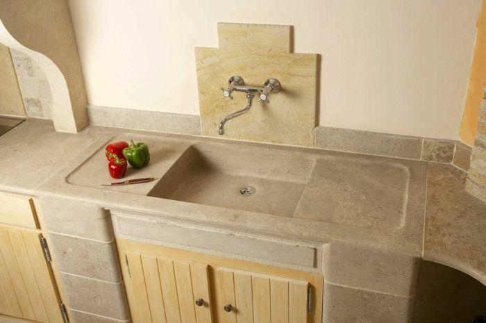 Waschbecken küche stein  Küchen Spüle - Ein Design aus natürlichem Stein | Innenarchitektur ...