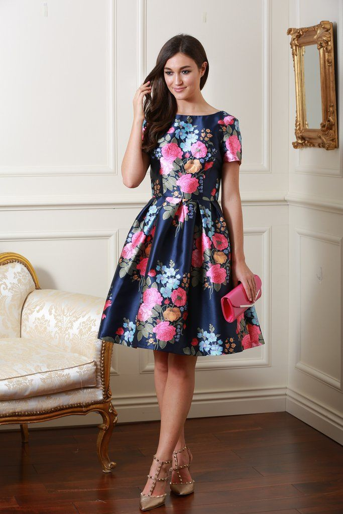 Amber Navy Floral Dress | Wedding Guest Outfits | Pinterest | Navy ...