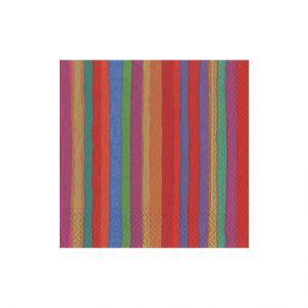 Balthazar Stripe Paper Cocktail Napkins - 20 Per Package