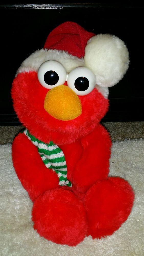 efa33429f3d Elmo Tyco 1997 Jim Henson Christmas Santa Hat 14