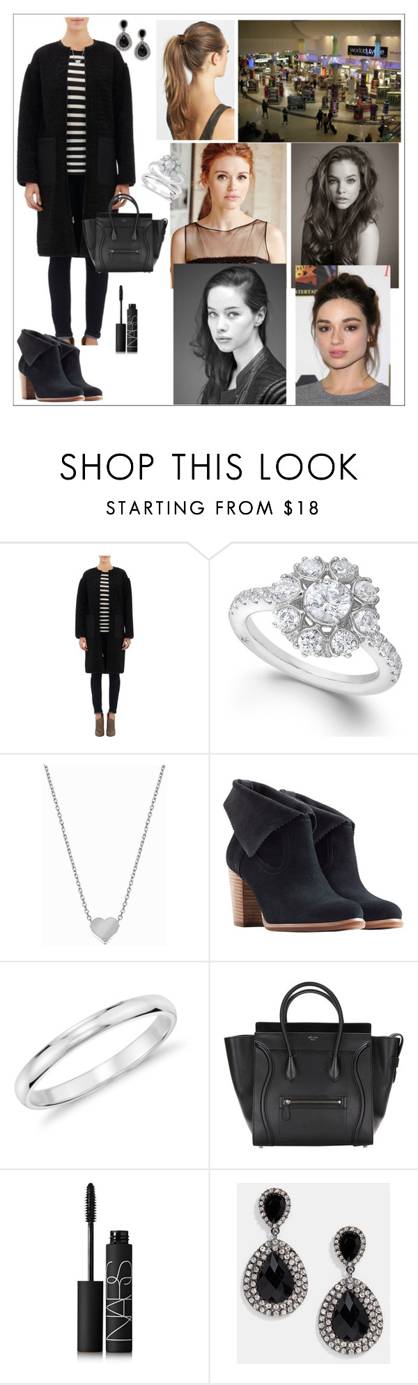 """Eleanor went shopping with her friends"" by eleanorrosalie ❤ liked on Polyvore featuring Ashley B, Marchesa, Minnie Grace, UGG Australia, Blue Nile, NARS Cosmetics, DesignSix and France Luxe"
