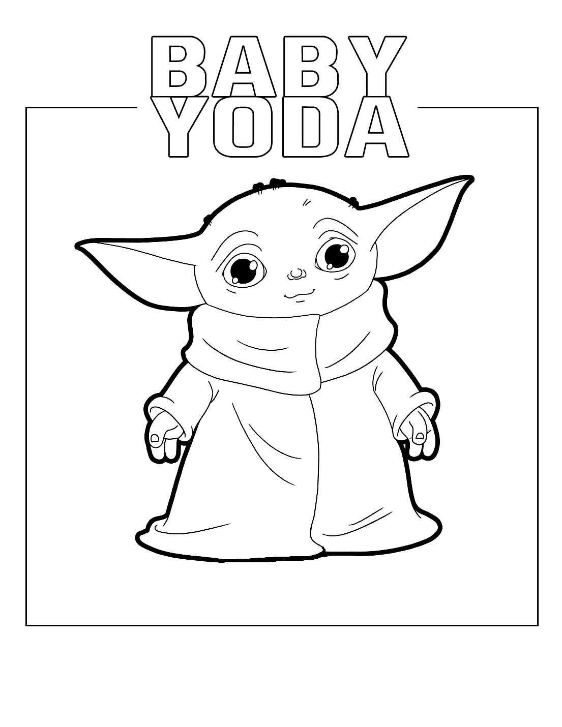 Baby Yoda Coloring Pages In 2021 Coloring Pages Christmas Poems Color
