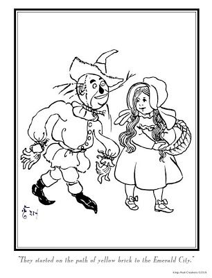 William Wallace Denslow: Wizard of Oz- Coloring Book Pages