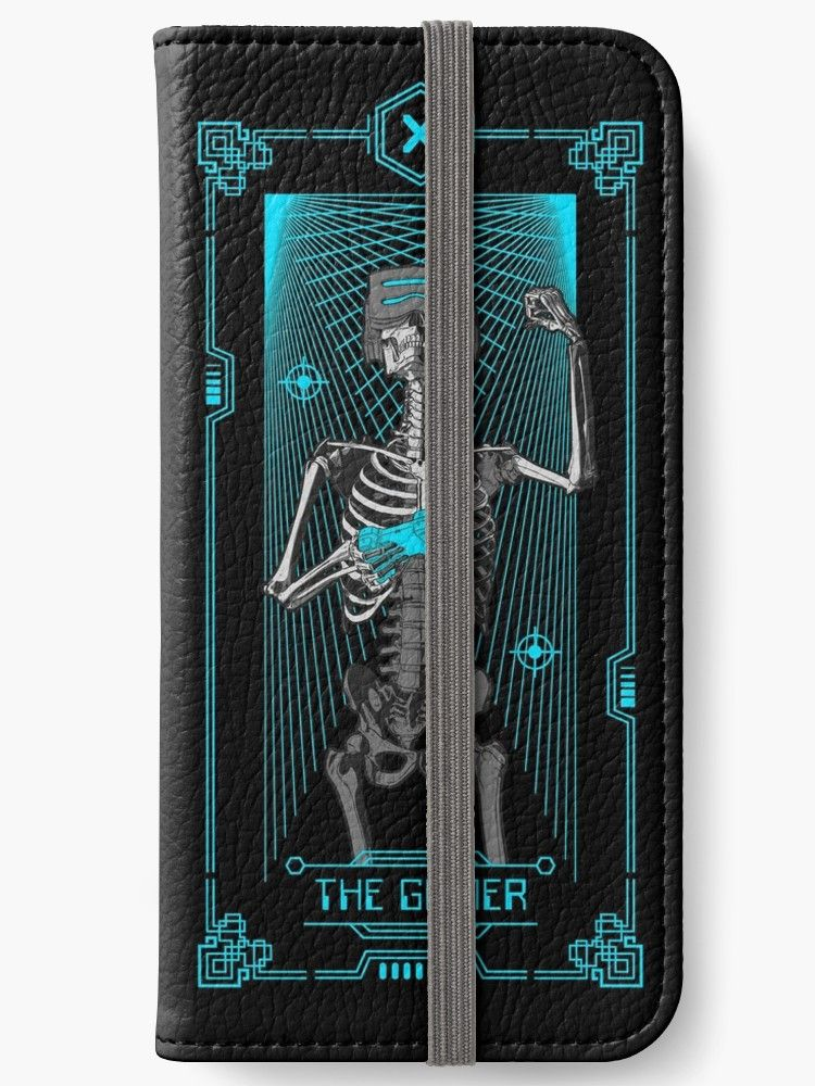 The gamer x tarot card iphone wallet by grandeduc