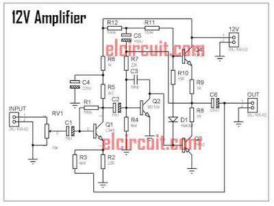 12v Audio Amplifier Circuit Diagram - Wiring Diagram Center