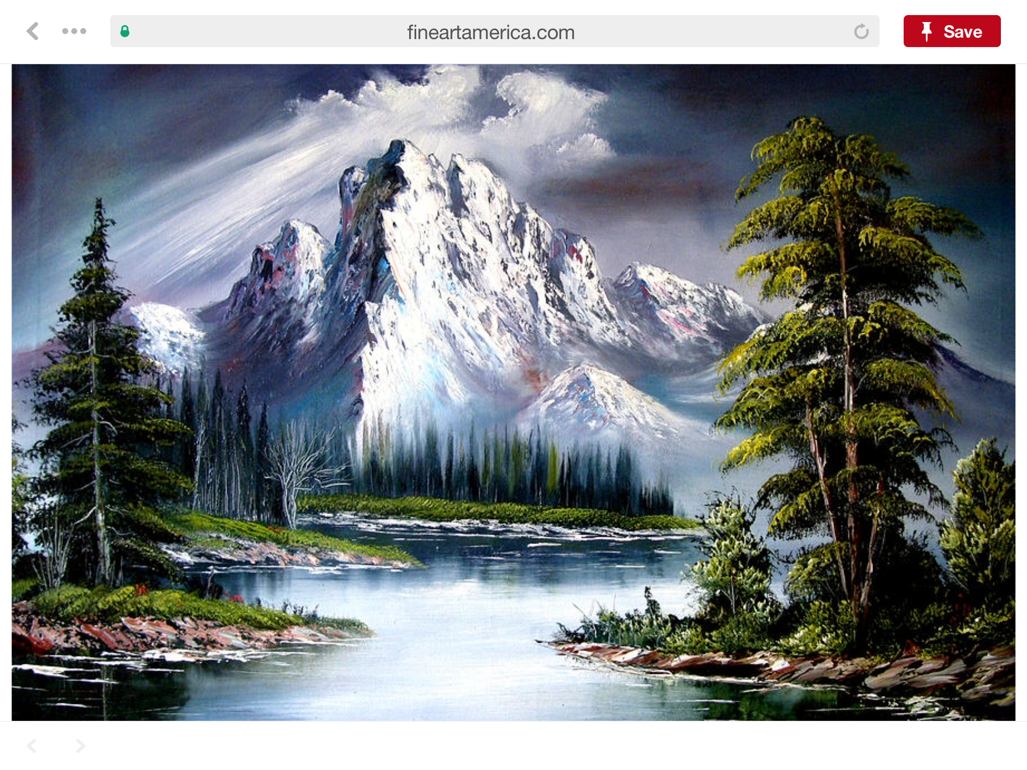 Pin By Kelly Mcspadden On Acrylic Paintings Bob Ross Art Bob Ross Paintings Mountain Paintings