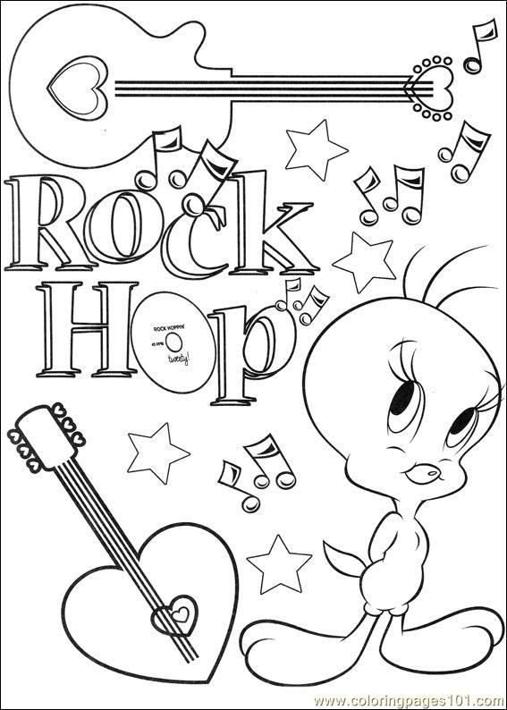 tweety bird coloring pages | Coloring Pages Tweety 66 (Cartoons ...