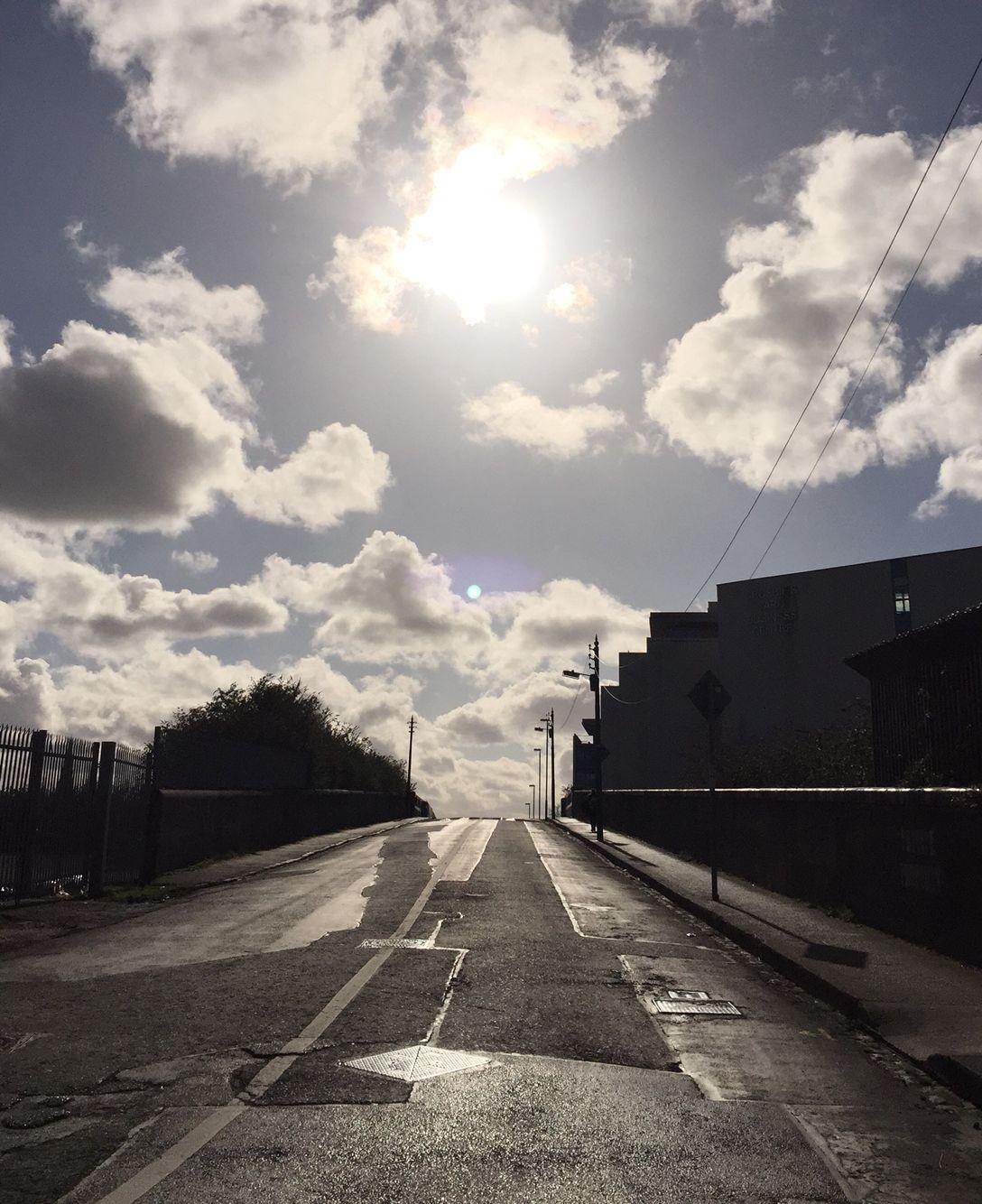 Sun and moon. Eastwall, Dublin