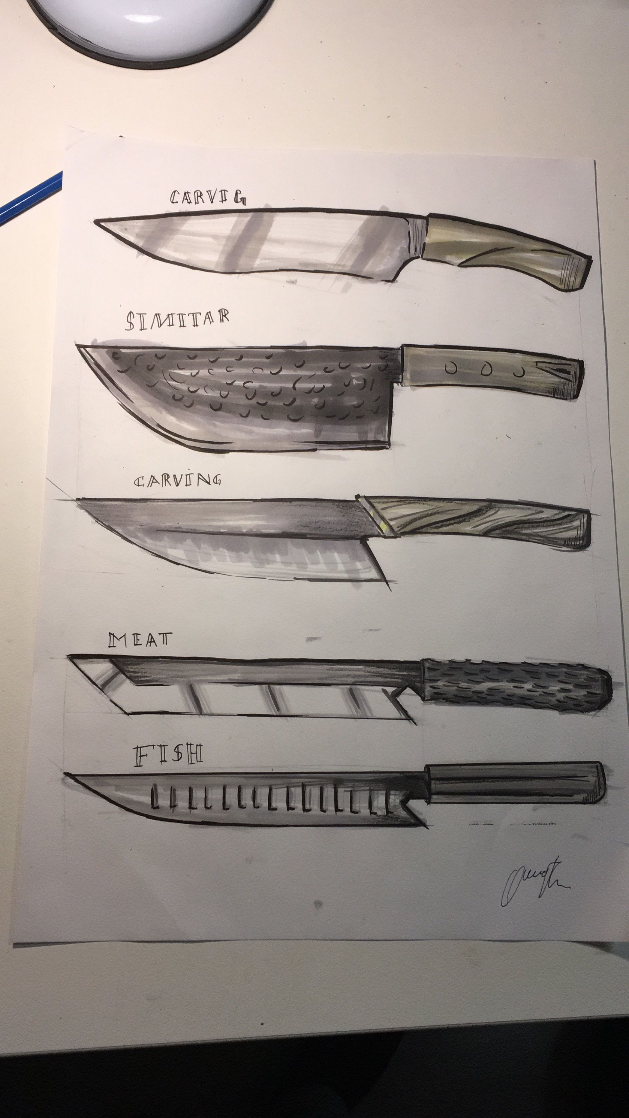 Pin by Mario Belloso on Sketches u Renders Pinterest Knives