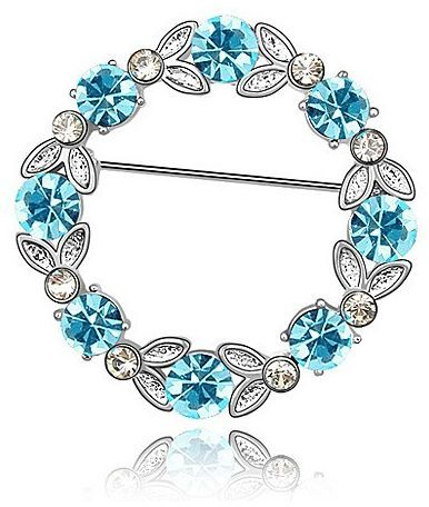 New Free Shipping Authentic Swarovski Blue & Clear Crystal Brooch Pin XAG02846WB | eBay