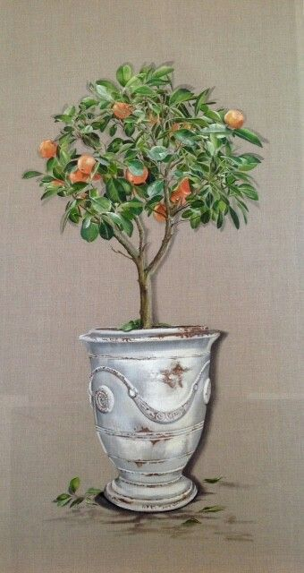 Pin By Leslie Polatty On Arbres Tree Painting Wall Painting Little Garden