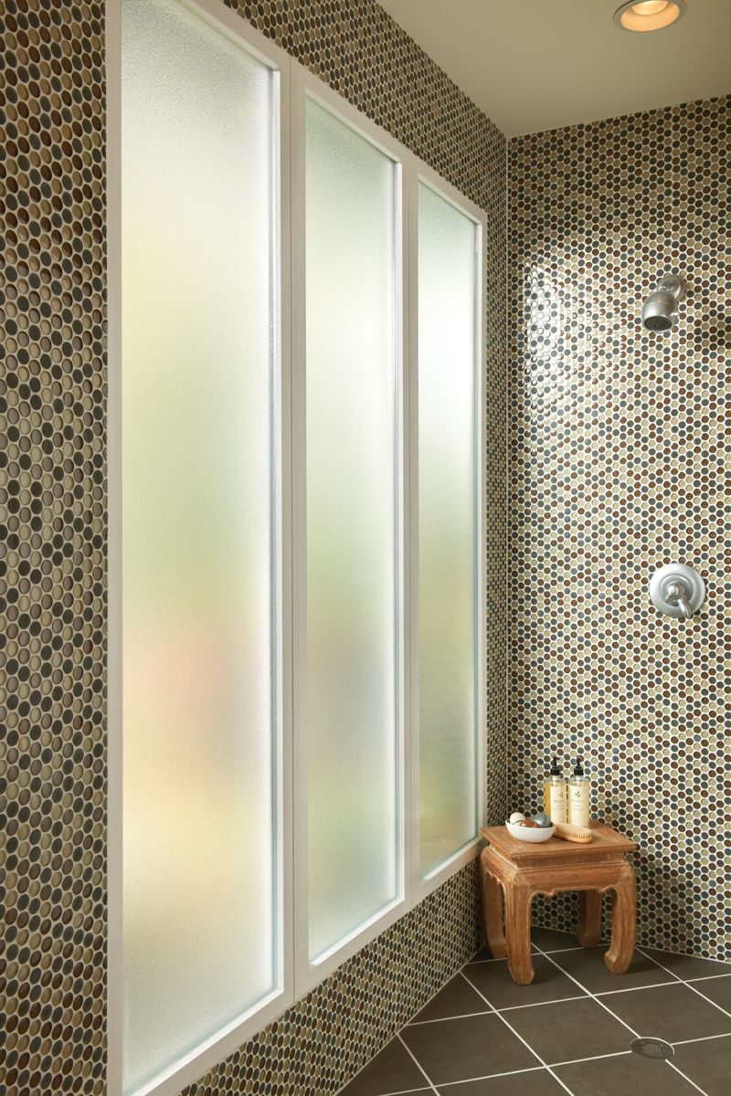 Design Tips In The Bathroom Shower Obscure Glass Offers Privacy