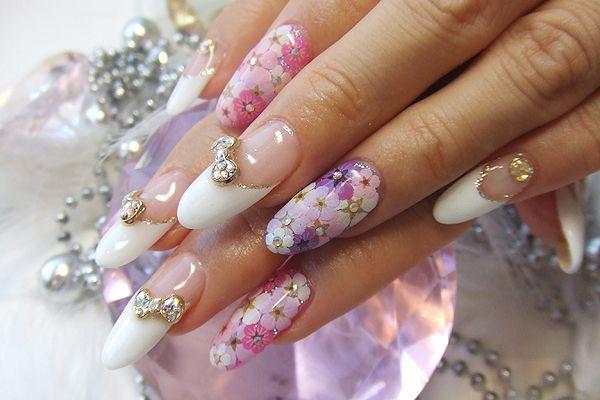 Gospels Flower Nails Cherry Blossom Nails Art Cherry Blossom Nails