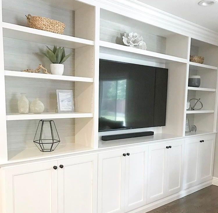 Pin By Burcu Karatepe On Home Built In Shelves Living Room Living Room Wall Units Family Room Walls