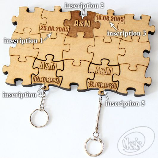 Personalized Wall Key Holder Wall Key Holder Puzzles by Oksis ...