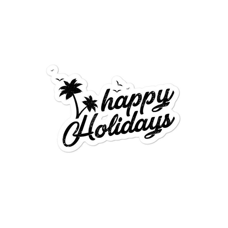 Happy Holidays Bubble Free Stickers Etsy Happy Holidays Free Stickers Holiday Stickers