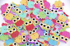 Pack of 20PCS OWL Buttons-Mixed Wood Buttons Sewing Scrapbooking Flowers Shaped 2 Holes