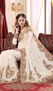 white color Beautiful #Saree